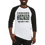 famous hacker funny slogan Baseball Jersey