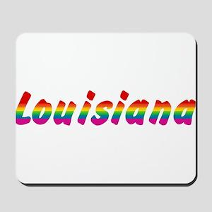 Rainbow Louisiana Text Mousepad