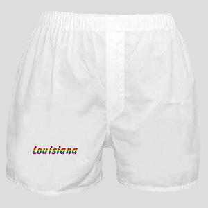 Rainbow Louisiana Text Boxer Shorts