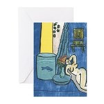 Jazz Singer on Abstract Greeting Cards (Pk of 10)