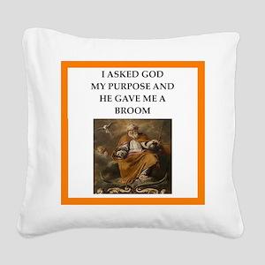 Curling joke Square Canvas Pillow