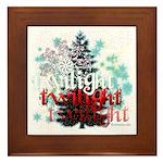 Twilight Christmas by Twidaddy.com Framed Tile