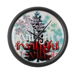 Twilight Christmas by Twidaddy.com Large Wall Cloc