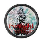 Twilight Christmas by Twidaddy.com Large Wall Cloc