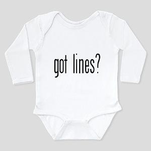 Got lines? Infant Creeper Body Suit