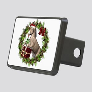 Christmas Donkey Wearing S Rectangular Hitch Cover