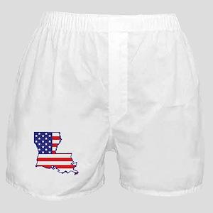 LA USA Flag Map 1 Boxer Shorts