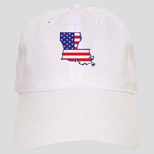 LA USA Flag Map 1 Cap