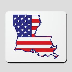 LA USA Flag Map 1 Mousepad