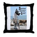 Spotty Boy Sonny's Throw Pillow