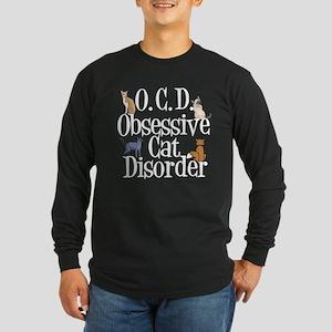 Obsessive Cat Disorder Long Sleeve Dark T-Shirt
