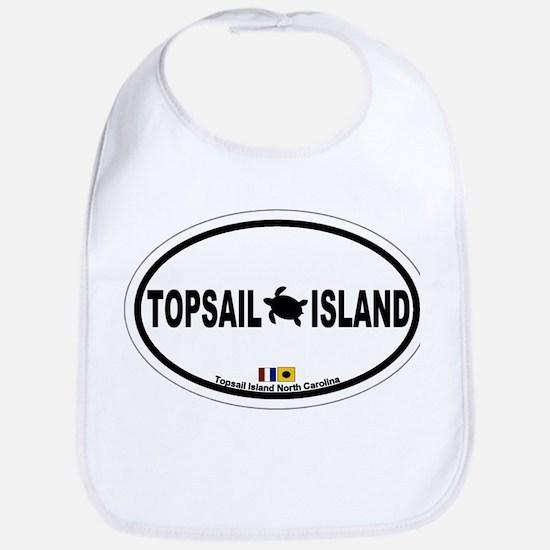 Topsail Island NC - Oval Design Bib