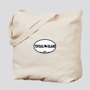Topsail Island NC - Oval Design Tote Bag