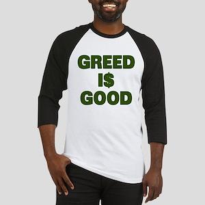 Greed is Good Baseball Jersey