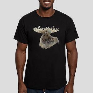 Proud Bull Moose Men's Fitted T-Shirt (dark)