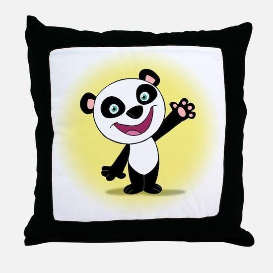 Little Panda with a Little Su Throw Pillow