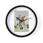 Samurai Warrior Oda Nobunaga Wall Clock
