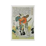 Samurai Warrior Oda Nobunaga Rectangle Magnet