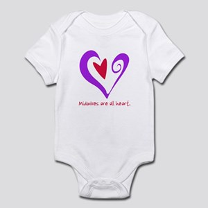 Midwives are All Heart - Purp Infant Bodysuit