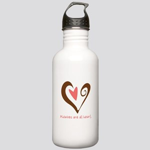Midwives All Heart - Brown Stainless Water Bottle
