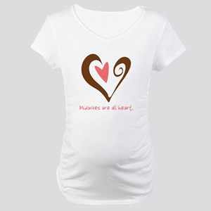 Midwives All Heart - Brown Maternity T-Shirt