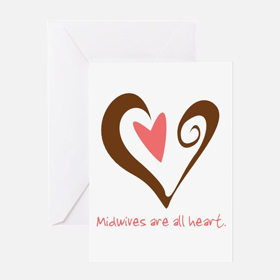 Midwives All Heart - Brown Greeting Card