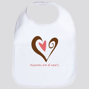 Midwives All Heart - Brown Bib