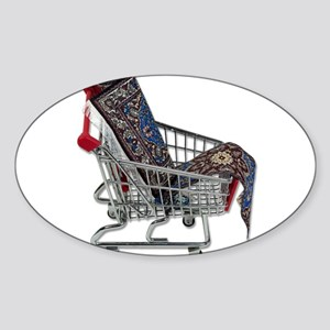 Rugs in a Shopping Cart Sticker (Oval)