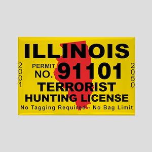Illinois Rectangle Magnet