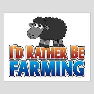 Cartoon Farmville Sheep Small Poster