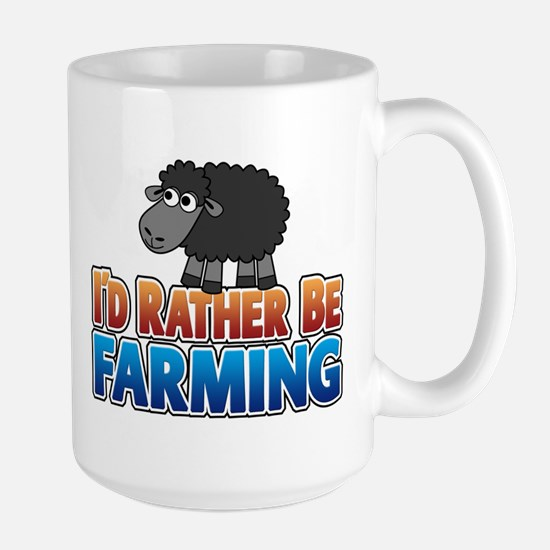 Cartoon Farmville Sheep Large Mug