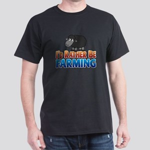 Cartoon Farmville Sheep Dark T-Shirt