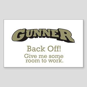 Gunner - Back Off Sticker (Rectangle)