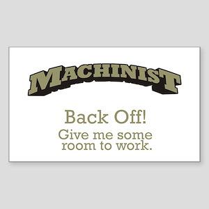 Machinist - Back Off Sticker (Rectangle)