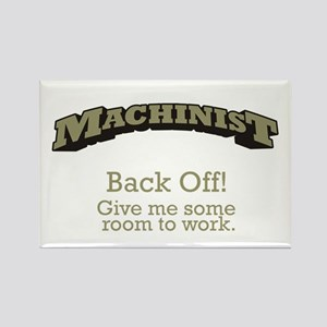 Machinist - Back Off Rectangle Magnet