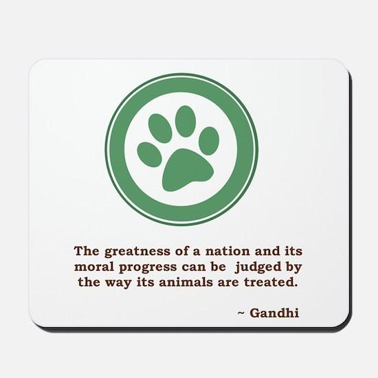 Gandhi Green Paw Mousepad