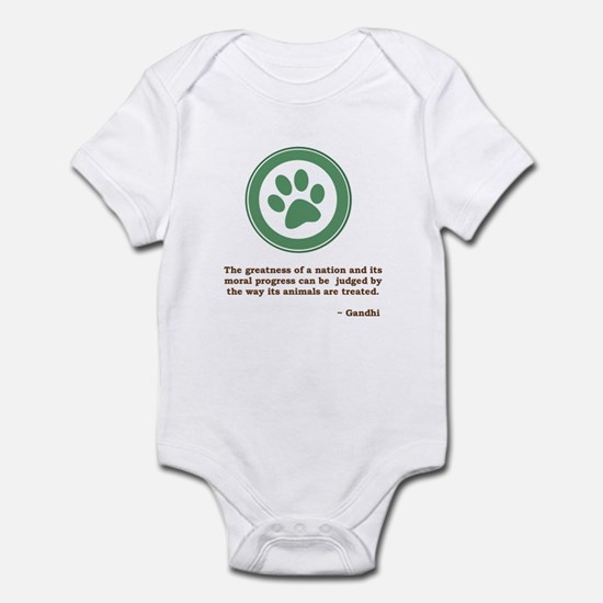 Gandhi Green Paw Infant Bodysuit