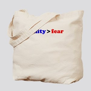 Sanity is greater than fear Tote Bag