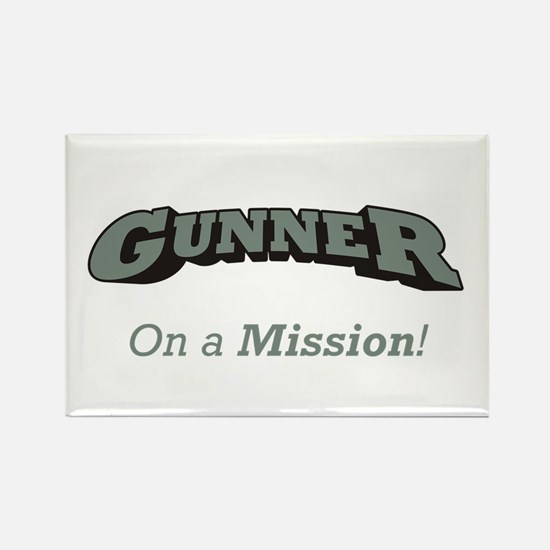 Gunner - On a Mission Rectangle Magnet