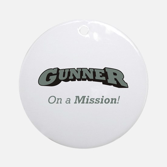 Gunner - On a Mission Ornament (Round)