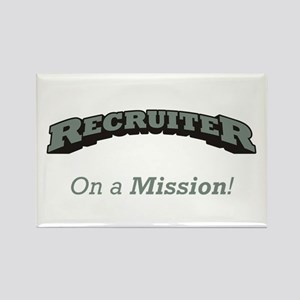 Recruiter - On a Mission Rectangle Magnet