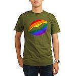 Rainbow Kiss Organic Men's T-Shirt (dark)
