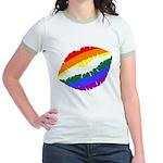 Rainbow Kiss Jr. Ringer T-Shirt