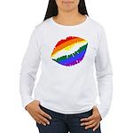 Rainbow Kiss Women's Long Sleeve T-Shirt