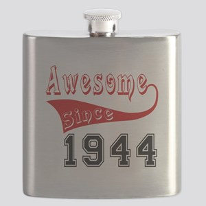 Awesome Since 1944 Birthday Designs Flask