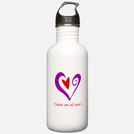 Doulas All Heart Purple Sports Water Bottle