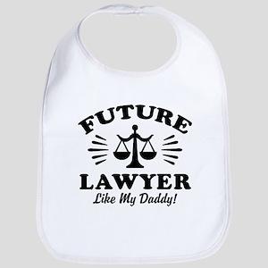 Future Lawyer Like My Daddy Cotton Baby Bib
