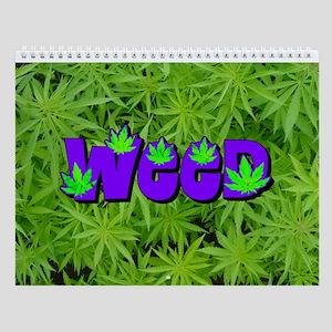Weed Marijuana Wall Calendar