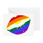 Rainbow Kiss Greeting Cards (Pk of 10)