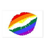 Rainbow Kiss Postcards (Package of 8)